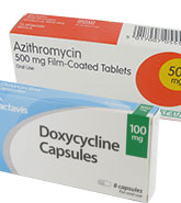 Azithromycin tablets and Doxycycline capsules for chlamydia treatment